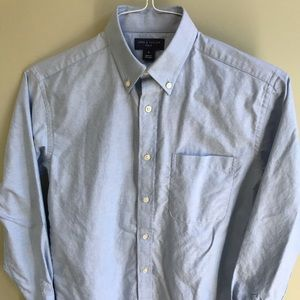 Lord & Taylor Boys Size 16 100% Cotton Blue Shirt